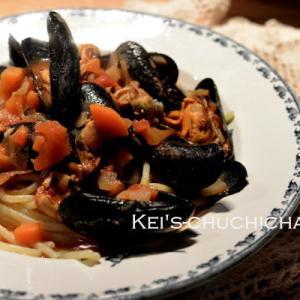 ムール貝のトマトスパゲッティ