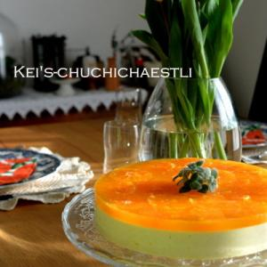 みかんのレアチーズケーキ