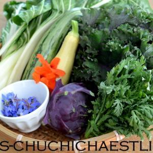 頂いたお野菜と昨日のごはん