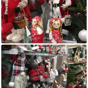 店内はクリスマス