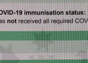 ロックダウン中のワクチン接種の証明