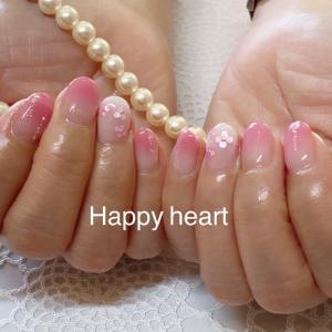 岐阜市ネイル ピンクの紫陽花ネイル