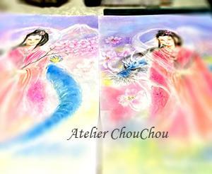 ☆観音様、龍、妖精を描こう~パステル