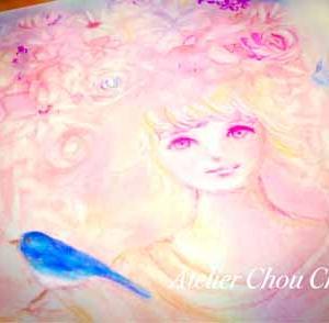 ☆幸せの青い鳥~アートでヒーリング~パステル