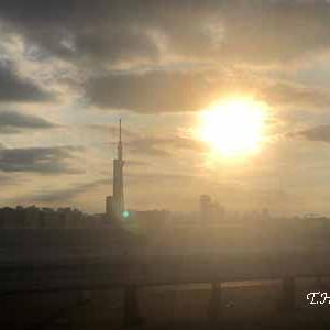 ☆夕日とスカイツリー