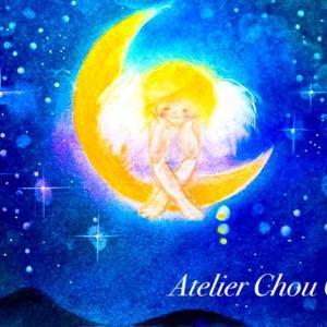 ☆三日月と天使の絵〜明日の七夕に思う。
