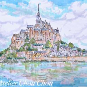 ☆創作塗り絵コピックアート〜モンサンミッシェルを描く