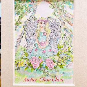 ☆コピックアート〜創作塗り絵~森の天使を描く