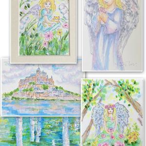 ☆創作塗り絵コピック天使アート