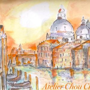 ⭐︎大人の創作塗り絵コピックアート、天使の塗り絵、水の都ヴェニス