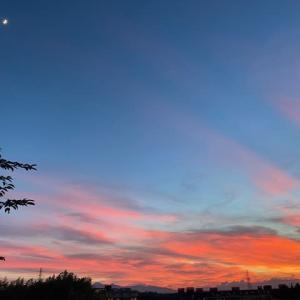 キレイな夕焼け・・梅雨明けの日