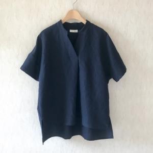 リネンレーヨンのスキッパーシャツ