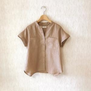 リネンローンのロングシャツ