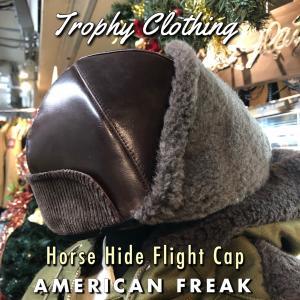 Horse Hide Flight Cap TROPHY CLOTHING