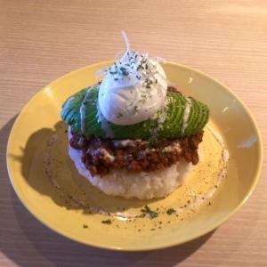 福井市「水色食堂」でカレーランチ。