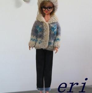 ジェニーちゃん 手編みカウチンセーター&帽子