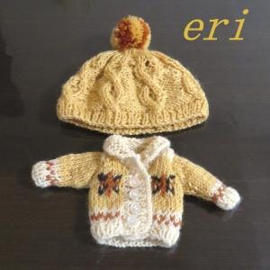 ブライス人形用  カウチンセーター&帽子