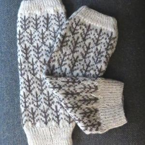 手編み・レッグウォーマー北欧風ツリー