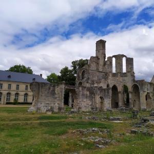 廃墟のシャアリ王立修道院 (Abbaye Royale de Chaalis )付属教会