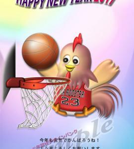 毎年人気のスポーツ年賀状、初アップはバスケとフィギュア