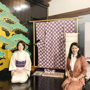 ―色を解くー 植物の力「幾世、紫」紫根染め 京絞り寺田 西陣座佐織 作品展にお邪魔してきました