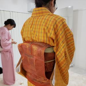 京都・着付けレッスン│補整の大切さに気付いてもらいました(中級・自装レッスン)