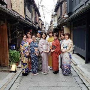 京都・着付け教室│毎年恒例、葵桜の新年会。祇園でお食事して十日ゑびす(お友達のご参加も♪)