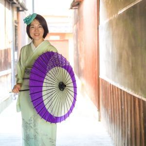 8月某日、京都の町家で夏着物で撮影してもらった、涼やかな写真たち