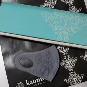 長襦袢の残布で作ったダマスククラッチバックとダマスクマスク(kaonnオリジナル)