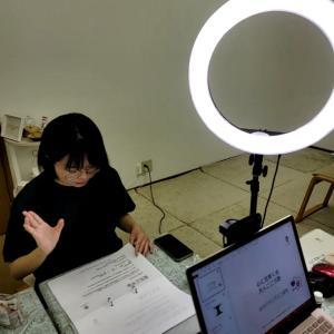 目の前に生徒さんがいる環境を作っての動画教材収録。