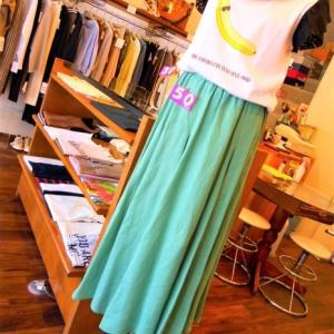 ピスタチオグリーンのスカート・・・・☆