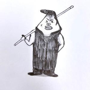 鉛筆のオリジナルキャラクター