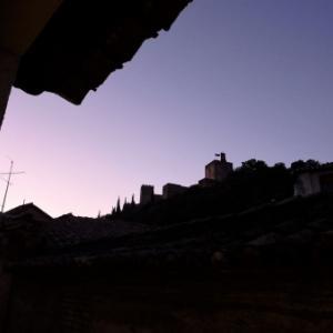 オレンジ~パープル~ピンク?  アルハンブラの空の色! in Granada, Summer2019