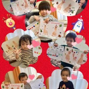 ◆クリスマス制作♪◆おうち教室ベビーリトミッククラス◆