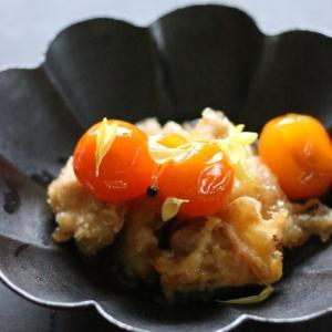 簡単レシピ「鶏天ぷらの金柑ソース」をご紹介。