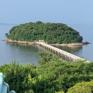 【夏至の日に】竹島と、波動カラーと、クラシックホテル。