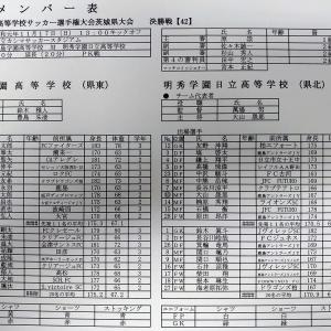 [速報]全国高校サッカー選手権 茨城県予選 決勝(vs 明秀日立)の結果