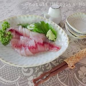 夏が旬の魚*イサキの刺身*魚勘*おうちごはん