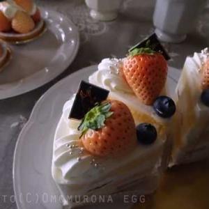 アトリエバニラ*期間限定*白いちごのタルトとショートケーキ*