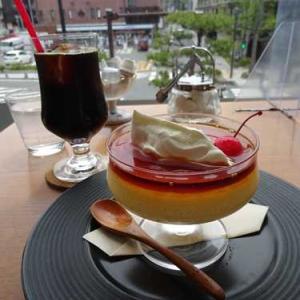 香月珈琲店 鎌倉店*自家製プリンは固めでたっぷり量*アイスコーヒー