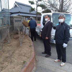 2月28日 志染中学校の閉校式(雨天決行)
