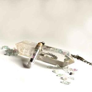 イーハトーブ標本集 蛍石(フローライト) 試験管ネックレス