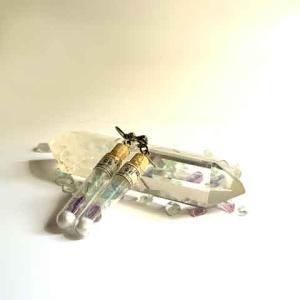 イーハトーブ標本集 蛍石(フローライト) 試験管ピアスorイヤリング