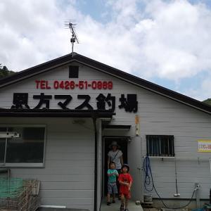 ニジマス釣り&BBQ  at 奥浅川恩方マス釣場