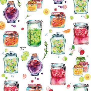 果実の瓶*水彩イラスト