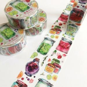 15日22時から販売開始!果実の瓶マスキングテープ