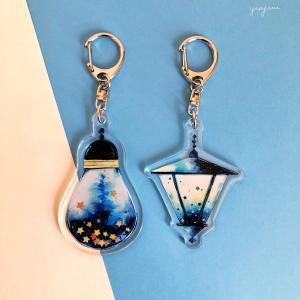 星集めのランプ、瓶シリーズで「アクリルキーホルダー」*デザフェス