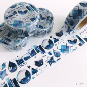 図形×星空マスキングテープ*19日22時から販売