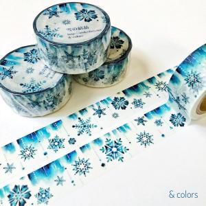 お客様のレビュー「スケジュール帳を、早く雪の結晶で埋めたい」*雪の結晶 マスキングテープ