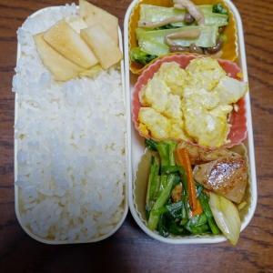 ある日のお弁当(鶏肉とニラの炒め物)